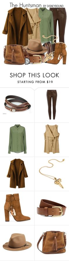 """The Huntsman"" by leslieakay ❤ liked on Polyvore featuring NOVICA, Ralph Lauren Black Label, Equipment, WithChic, LeiVanKash, Aquazzura, H&M, rag & bone, disney and disneybound"