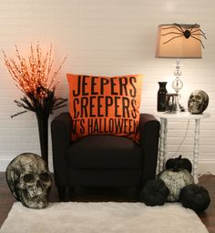 Modern Halloween Decor modern halloween decorations in black and white | modern halloween