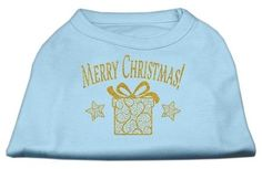 Golden Christmas Present Dog Shirt Baby Blue Sm (10)
