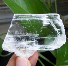10mm Thick super transparent ice clear SELENITE slab healing crystal China 1440 #UnbrandedGeneric