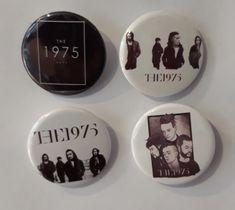 Set of 4 Button Badges. Size: 25 cm (1 inch). The 1975, Button Badge, Badges, Buttons, Badge, Knots, Lapel Pins, Plugs