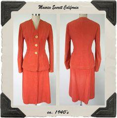 1940's Maurice Everett Corduroy Suit  Ruby Lane Shop Noble Savage Vintage