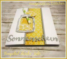 Stempelnd durchs Jahr - August 2016, Glasklare Grüße, Zauberhafte Blüten, Jar of Love, lemon, Zitrone, Blog Hop, Stampin Up!