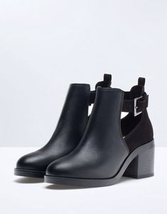 Bershka open heeled ankle boots - null - Bershka Bosnia and Herzegovina Pretty Shoes, Beautiful Shoes, Cute Shoes, Me Too Shoes, Heeled Boots, Bootie Boots, Shoe Boots, Ankle Boots, Shoes Sandals