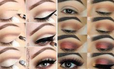Need a hand spicing up your makeup routine? Here are 21 easy step by step makeup tutorials from Instagram and we think you're going to love them! #EyelinerStyles Makeup For Green Eyes, Blue Eye Makeup, Smokey Eye Makeup, Skin Makeup, Eyeliner Makeup, Eyeliner Styles, Makeup Brushes, Beginner Makeup Kit, Makeup Tutorial For Beginners