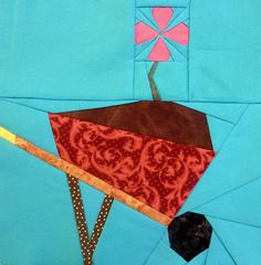 First Bloom 10 inch block by aalia7, via Flickr