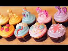 MY LITTLE PONY CUPCAKES  | Watch the tutorial on how to make a batch of these adorable cupcakes.