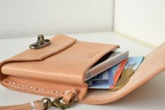 Personalized leather wristlet clutch-SR