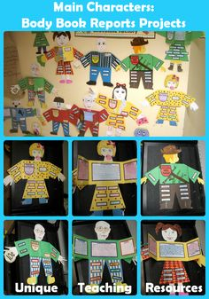 "Students have fun creating these ""Main Character - Body Book Report Projects.""…"