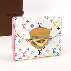 c0eec6376a10a Details about Louis Vuitton Auth M60281 Portefeuille Joey Wallet Bronn  Ladies Excellent  1638