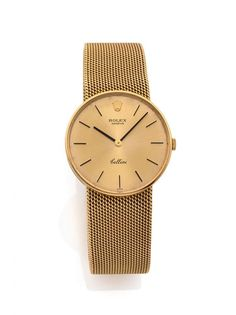 ROLEX CELLINI, n° 651/4088/1160, vers 1960 Montre bracelet en or jaune 18K (750). Boîtier rond