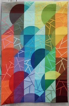 """Terry S. Peart - Seasons a QuiltCon 2020 Quilt - - """"Seasons"""" a quilt by Terry S. Quilt Festival, Walking Foot Quilting, Quilt Modernen, Long Arm Quilting Machine, The Quilt Show, Les Themes, Wall Drawing, Textiles, Small Quilts"""