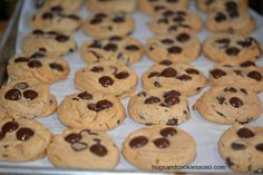 Peanut Butter cookies, mmmmm! But when these peanut butter chocolate cookies