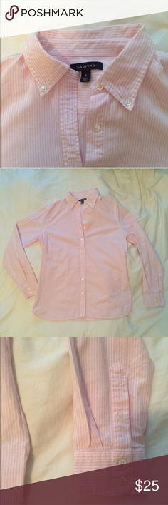 Lands End button up In great used condition. Relishing because pink doesn't work for me after all. Lands' End Tops Button Down Shirts