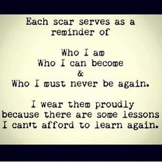Never again. ...A recovery from narcissistic sociopath relationship abuse. ^love who ever said that