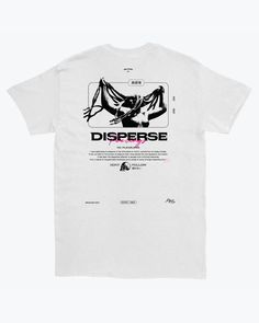 Limited edition tee, designed by Marco Giacobbe. These limited edition Disperse tee garments are only available here. Shirt Print Design, Tee Shirt Designs, Tee Design, T Shirt Graphic Design, Logo Design, Simple Shirts, Cool Shirts, Design Kaos, Logos Retro