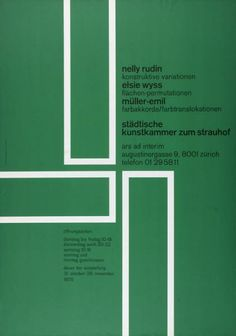 Nelly Rudin - Elsie Wyss - Müller-Emil - Städtische Kunstkammer zum Strauhof Zürich-Plakat