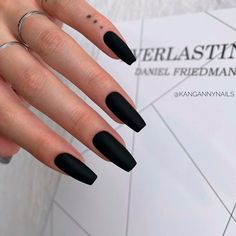 Black Matte Coffin Nails ❤ 35+ Magnificent Coffin Nails Designs You Must Try ❤ See more ideas on our blog!! #naildesignsjournal #nails #nailart #naildesigns #nailshapes #coffinnails #balerinanails #coffinnailshapes