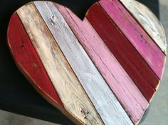 This Wooden Pallet Heart is made from recycled pallets that have been painted, sanded, stained, and varnished, then glued/nailed to a solid My Funny Valentine, Valentine Day Love, Valentine Day Crafts, Vintage Valentines, Pallet Crafts, Diy Pallet Projects, Wood Projects, Pallet Ideas, Diy Crafts