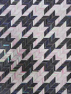 Houndstooth, a hand cut jewel glass mosaic shown in Amethyst and Rose Quartz, is part of the Houndstooth Collection by Sara Baldwin for New ...
