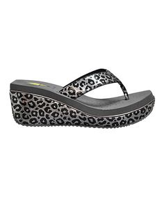 Get in step with the metallic trend in these sandals! Chic animal prints add feisty fun to the burnished upper, while a perforated EVA footbed keeps it comfy. Wedge Sandals, Wedge Shoes, Shoes Sandals, Heels, Suede Flats, Burmese, Animal Prints, Other Accessories, Cute Shoes