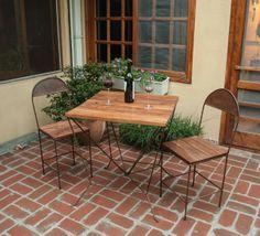 : : : Mesa y Sillas Valdés : : : Mesa y sillas de exterior - Madera y Hierro - Muebles y diseños a medida. https://www.facebook.com/SachaMuebles