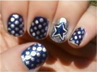 Dallas Cowboys my mom has got to let me do this to her nails!