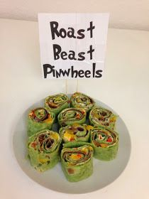 Im seeing a great chance of doing a crossover St. Patty. / Grinch party - with roast beast pinwheels