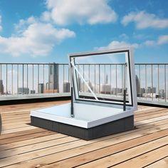 Roof hatch / rectangular / with translucent glass / thermal break RHTG1015 Gorter