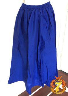 Royal Blue Peasant Skirt