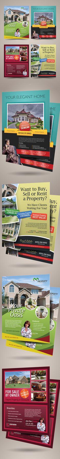 Premium Real Estate Flyer Templates by Kinzi Wijaya, via Behance