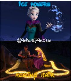 At least her glowing hair is explained. Maybe Elsa got her ice stuff because her mom got hypothermia.