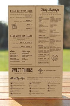 menu as inspiration. See the grid