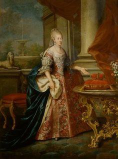 Portrait de Marie Louise, grande duchesse de Toscane, vers 1768école autrichienne