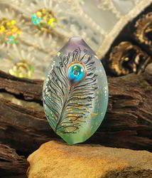 Soft Peacock, Tab, by Amy Kuczewski