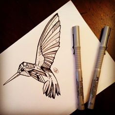 geometric bird tattoo - Google Search