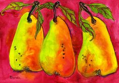 Hot pink pears