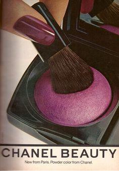 Vintage Makeup, Vintage Beauty, Vintage Nails, Vintage Vanity, Vintage Chanel, Chanel Beauty, Beauty Ad, Chanel Makeup, Coco Chanel