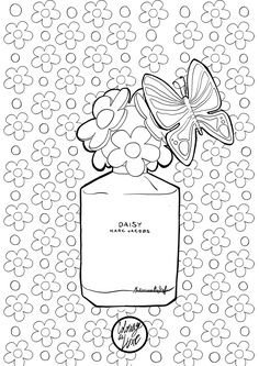 Mademoiselle Stef - Blog Mode, Dessin, Paris | Coloriage : Daisy by Marc Jacobs | http://www.mademoisellestef.com