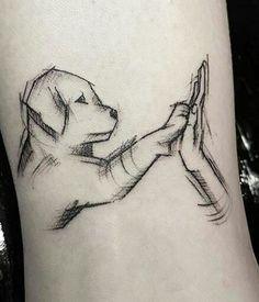 O melhor amigo do homem Dog Tattoos, Mini Tattoos, Body Art Tattoos, Small Tattoos, Trendy Tattoos, Unique Tattoos, Beautiful Tattoos, Tattoos For Women, Unique Animal Tattoos