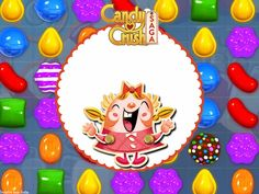 Candy Crush Party: Free Printable Invitations.
