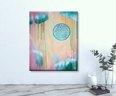 Sacred Geometry wall art #floweroflife #sacredgeometry #wallart #art #originalart #painting #boho #bohostyle #bohoart Sacred Geometry Art, Flower Of Life, Abstract Paintings, Original Artwork, Tapestry, Wall Art, Boho, Canvas, Flowers