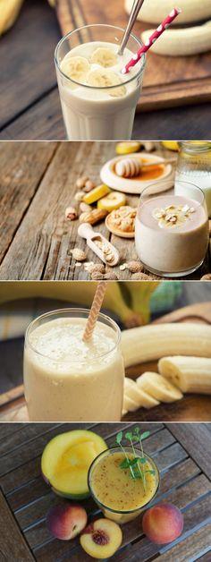 6 batidos de proteínas caseros para aumentar la masa muscular - MUY NUTRITIVOS    #batidos #proteinas #fitness #musculo #fitnessuncomo