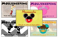 Print your own thank you envelopes for Disney World staff tipping ... Mousekeeping, Dining, Magical Express transportation, etc.