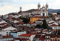 Ciudad histórica de Ouro Preto Minas Gerais Brasil.
