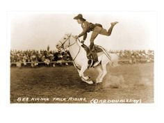 Bea Kirnan, trick rider and cowgirl