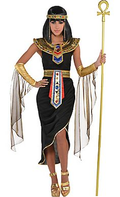 Base for an Egyptian/Cleopatra costume. Change the color to white, get rid of the arm bands and staff, make the accessories less costumey & more natural.