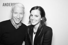 Emma Watson and Anderson Cooper