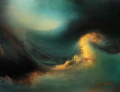 """cross-connect: """" Artist Samantha Keely Smith paints breathtaking abstract landscapes that resemble the swirling waters of the ocean. Using oil paint, enamel, and shellac, Smith builds up multiple..."""