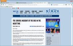 Nimax Theatres had a disaster when its Apollo Theatre ceiling collapsed during a showing on Thursday 19th December 2013. This is the Apollo Theatre page a week after the collapse.